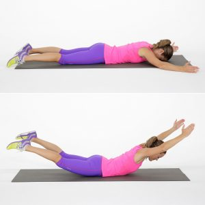 Back extension exercise.