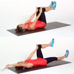 Dead bug exercise to improve core strength and posture.