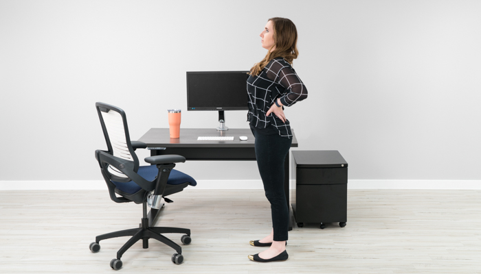 poor posture sitting - stand and stretch