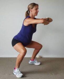 A squat position