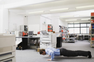 Exercises helping get out of a sedentary routine