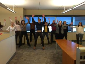 Jumping Jacks as another simple exercise to perform in the office
