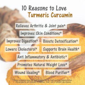 Benefits of turmeric/curcumin