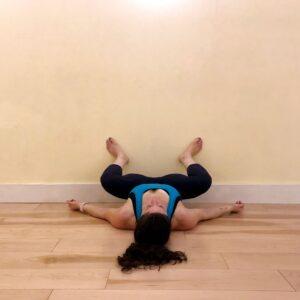 Adductor stretch using wall